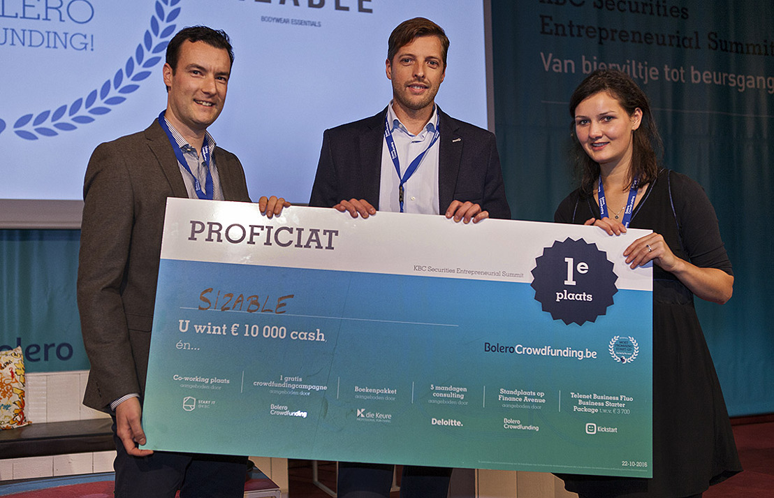 Sizable is 'Belgium's Most Promising Start-up, selected by the crowd'