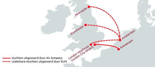 Preview: Air Antwerp en KLM sluiten codeshare-overeenkomst op routes tussen Amsterdam en het Verenigd Koninkrijk