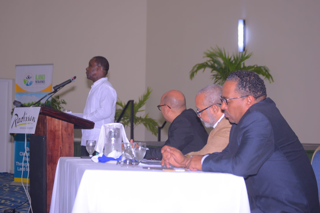 Dr. the Rt. Hon. Keith Mitchell, Prime Minister of Grenada, addresses the gathering at the 4th Meeting of the Council of Ministers of Environmental Sustainability