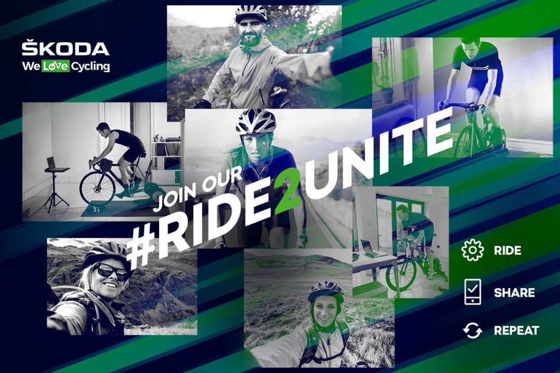 #Ride2Unite: ŠKODA hosts livestream with cycling pros, motivating fans to take part in sports