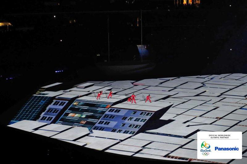 Panasonic @ JJOO Rio 2016 VideoMapping en Inauguración