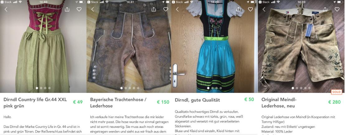 Shpock-Trachten-Report: Secondhand-Dirndl für 34 Euro