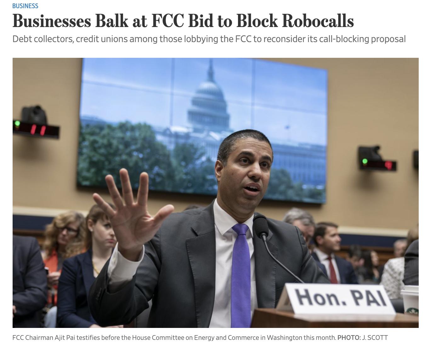 Businesses Balk at FCC Bid to Block Robocalls