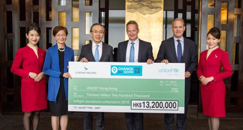 Cathay Pacific's Change for Good raised HK$13.2 million in 2016