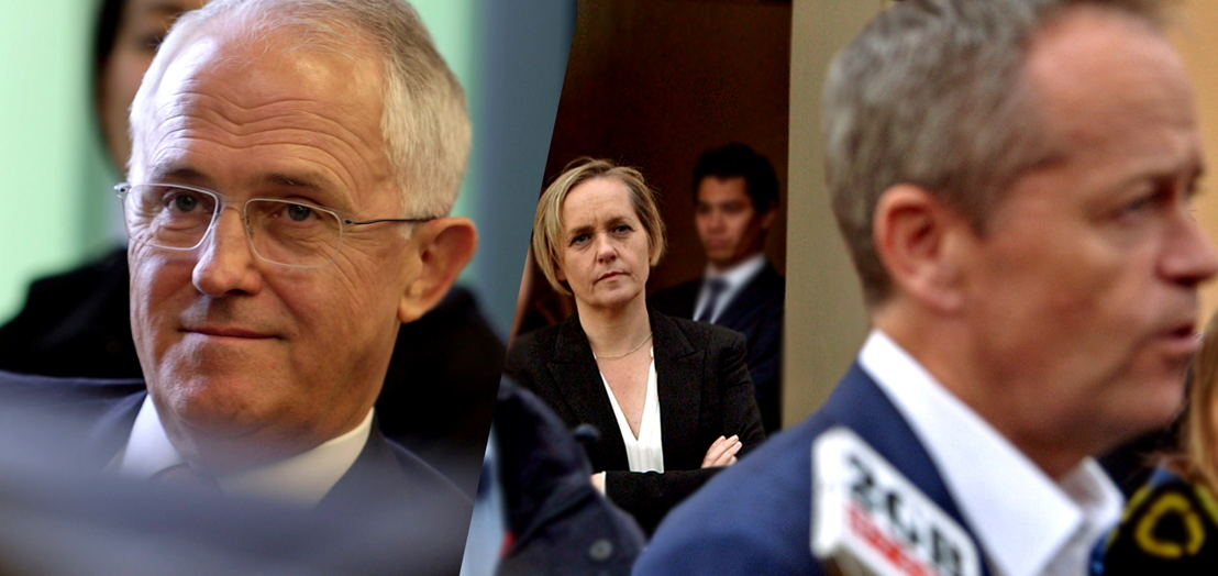 Sarah Ferguson interviews Malcolm Turnbull and Bill Shorten