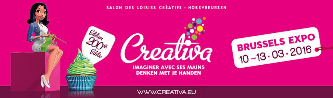 Creativa Brussel, de beurs voor creatieve vrijetijdsbesteding, viert zijn tweehonderdste editie!