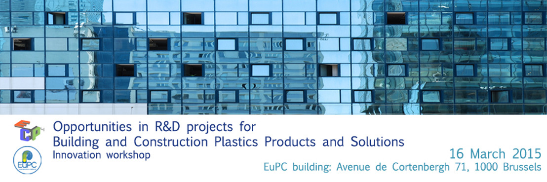 "Invitation: Innovation workshop ""Opportunities in R&D projects for Building and Construction Products and Solutions"""