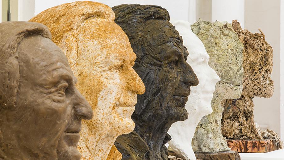 Sculptures by Brian Evans. Image: Stuart Hay