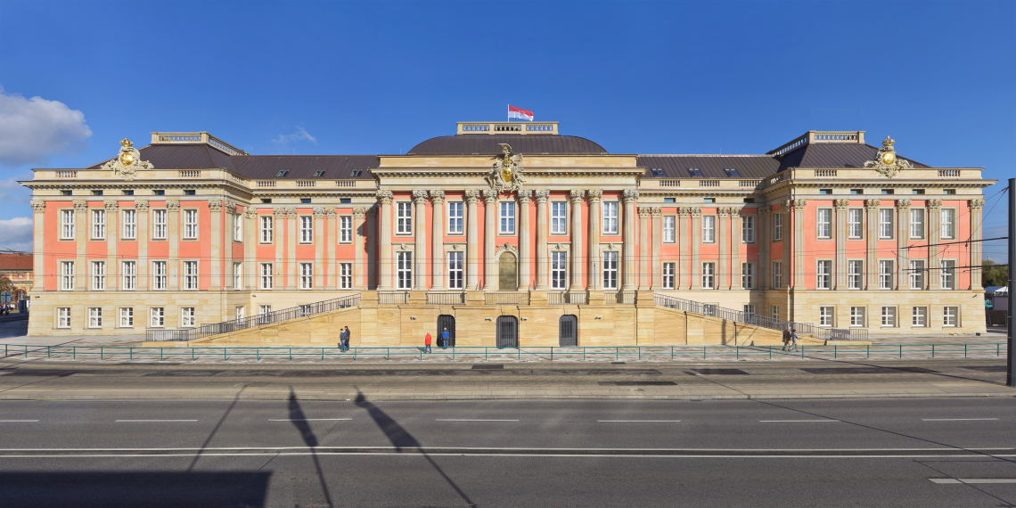 The iconic Brandenburg State Parliament in Germany