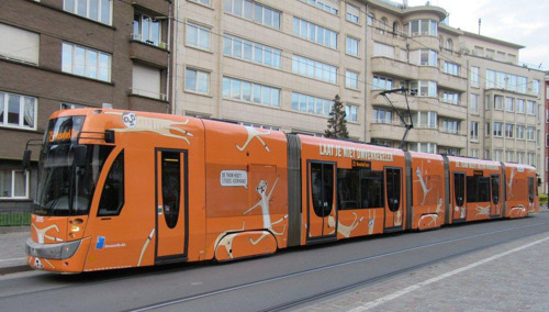 Les accidents de tram en baisse à la STIB