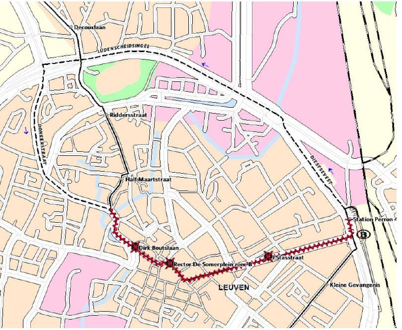 Omleiding lijnen 4, 5, 6 en nachtbus 5 richting Herent
