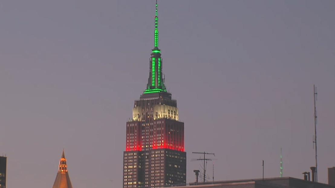 El Empire State se ilumina en honor a México durante Septiembre