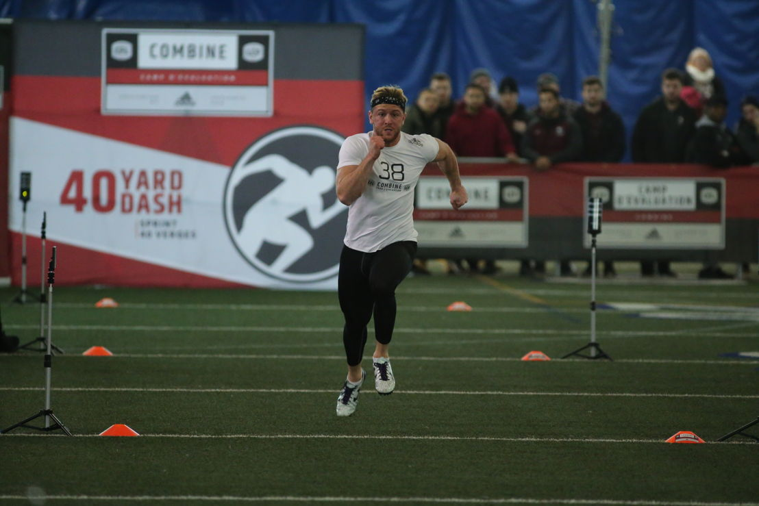 Jordan Beaulieu at the Ontario Regional Combine presented by adidas. Photo credit: Alex D'Addese/CFL.ca