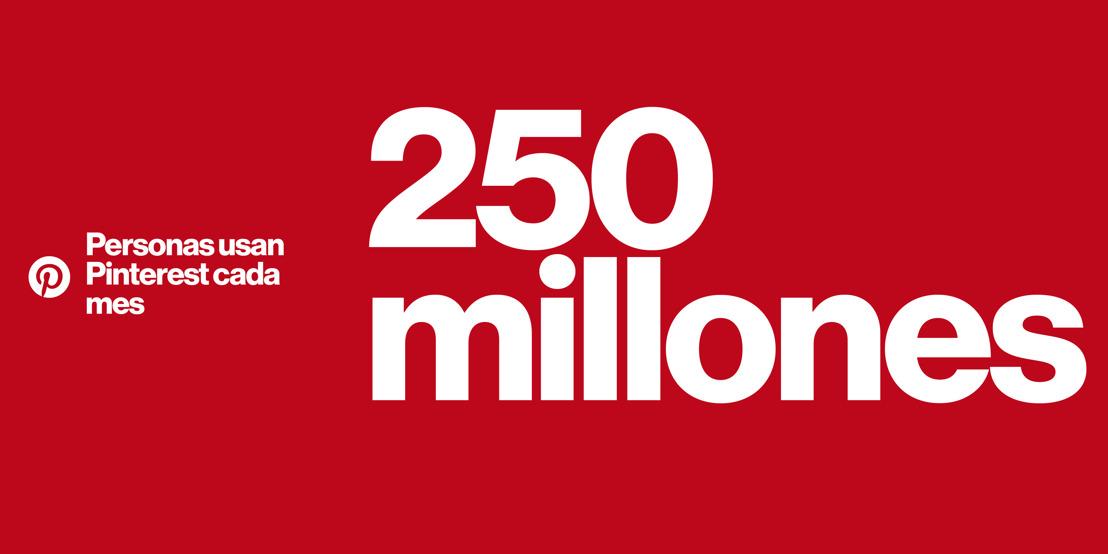 Pinterest alcanza los 250 millones de usuarios activos mensuales en todo el mundo