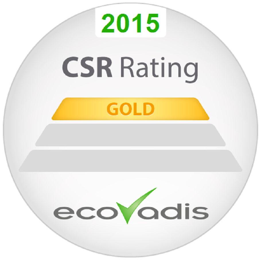 """EDF Luminus ontving een """"gold rating"""" voor zijn prestaties op het vlak van maatschappelijk verantwoord ondernemen."""