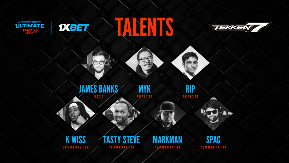 WePlay Esports reveals broadcast talent of WePlay Ultimate Fighting League Season 1 for Tekken 7