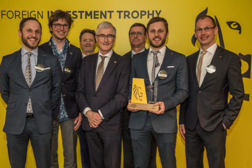 Kaneka (JP), Pfizer (VS) en Brolis (LT) winnen op de Foreign Investment Trophy 2018