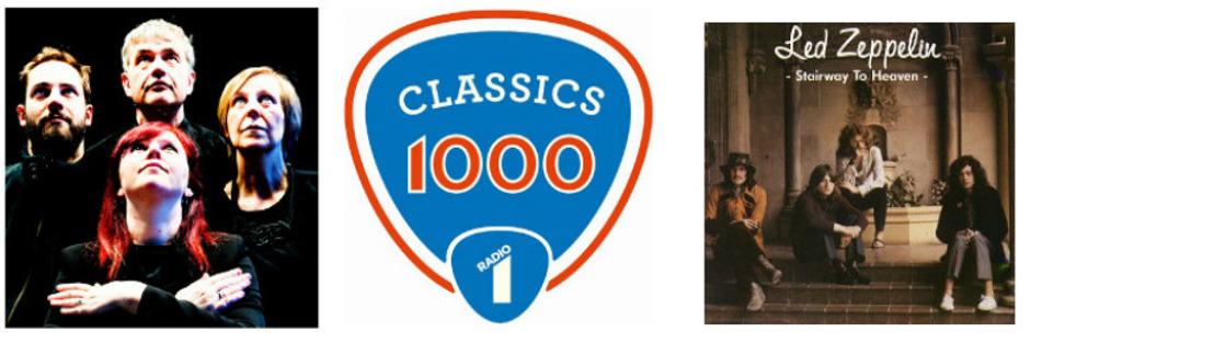 EMBARGO TOT ZATERDAG 21.5 OM 18.00 U. | Stairway to Heaven op 1 in de Classics 1000 van Radio 1