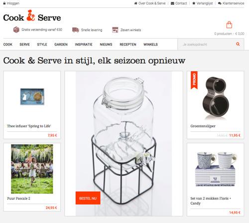 Cook & Serve lanceert webshop