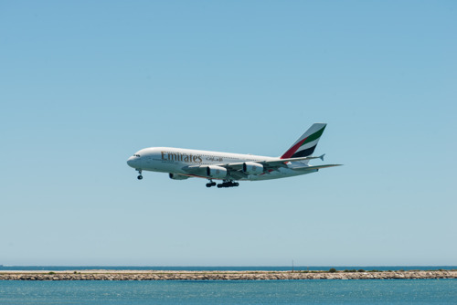 The Emirates A380 Touches Down in Nice