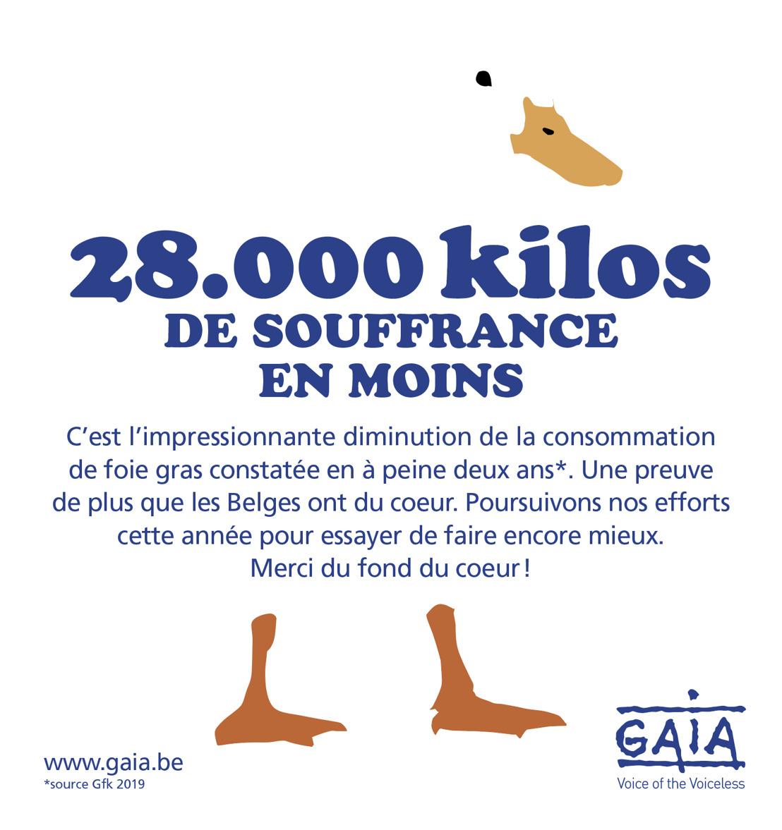TENDANCE BAISSIÈRE POUR LE FOIE GRAS : EN DEUX ANS, LES BELGES EN ONT MANGÉ 28.000 KG DE MOINS