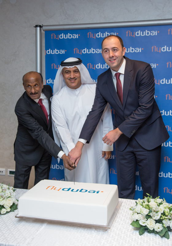 From left to right: H.E. Abdulsalam Hareb Alromaithi, the UAE Ambassador to Montenegro, Ghaith Al Ghaith, Chief Executive Officer of flydubai, Danilo Orlandic, CEO of Montenegro Airports.