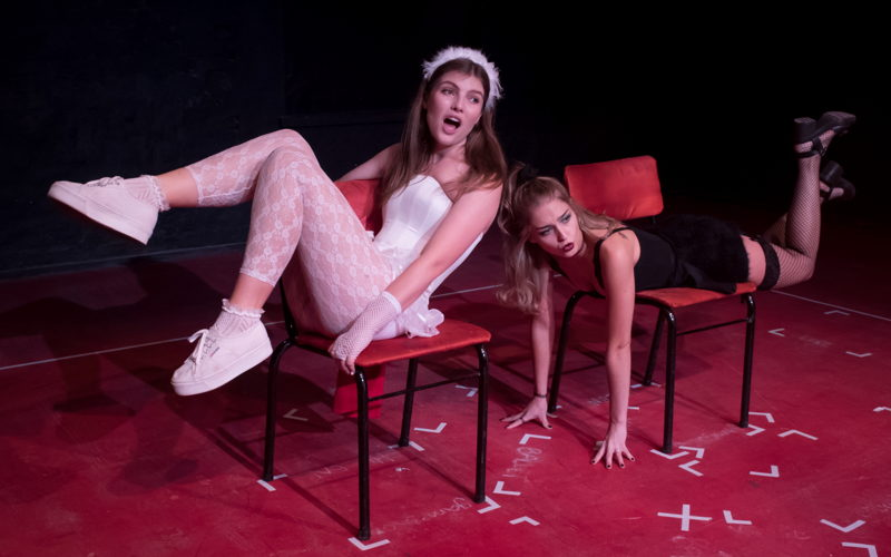 Donna Cormack-Thomson and Jamie-Lee Money in Whorefish Bloomers - The Waitresses' Lament