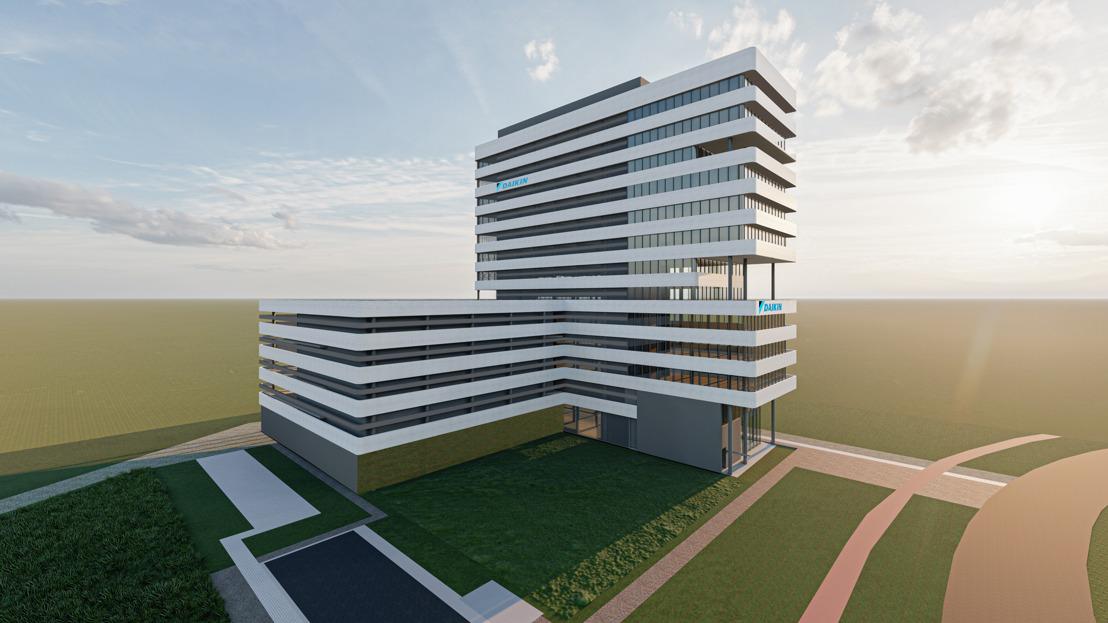 Daikin plant hypermodern ontwikkelingscomplex in Gent