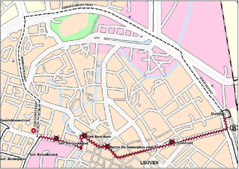 Omleiding alle andere lijnen (m.u.v. 2 en 539) van station naar centrum