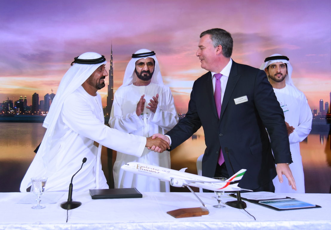 12 November - Emirates places US$15 1 billion order for 40 Boeing 787 Dreamliners