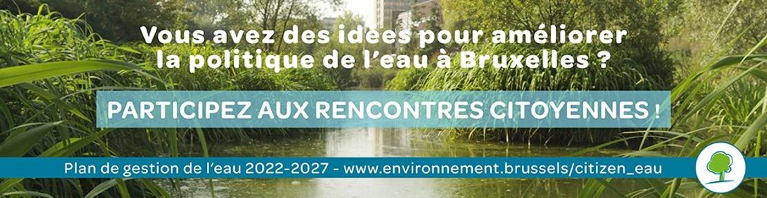 Un appel aux citoyens pour améliorer la gestion de l'eau à Bruxelles