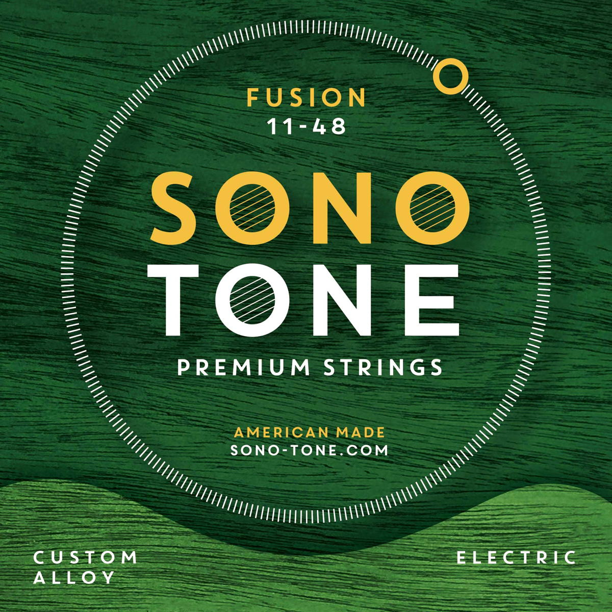 SonoTone Fusion series electric guitar strings are manufactured in the U.S. with high-quality, domestically sourced materials, to enhance tonal clarity, attack and sustain