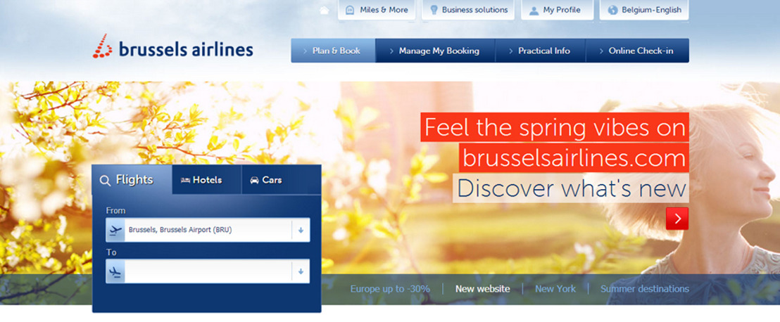 Brussels Airlines launches new website