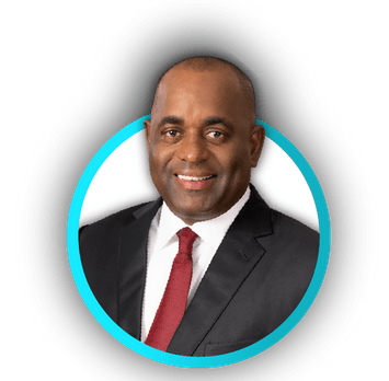 Dr. the Honourable Roosevelt Skerrit Prime Minister of the Commonwealth of Dominica