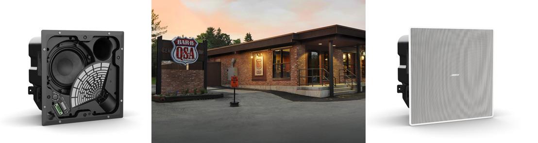 Altavoces EdgeMax y FreeSpace de Bose Profesional sonorizan el restaurante americano PJ'S BAR-B-QSA