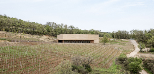 French architect Marc Barani designs a new winery for the estate Les Davids in Southern France