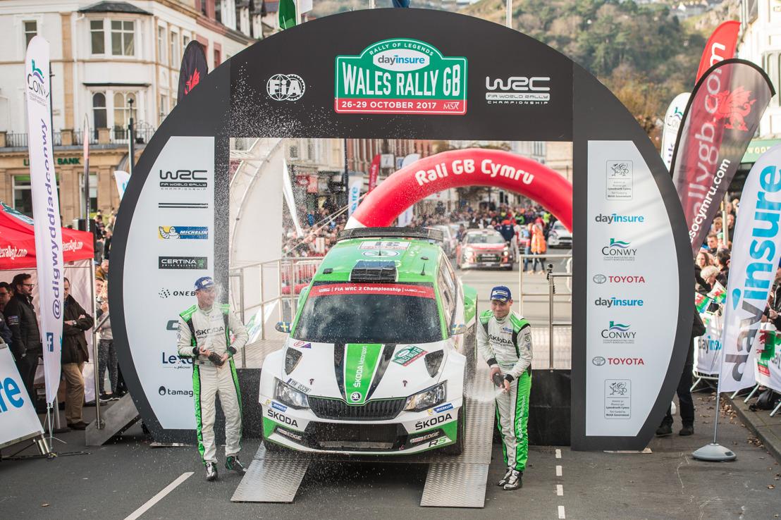 Wales Rally GB: ŠKODA's Pontus Tidemand wins WRC 2 – Category victory number ten for ŠKODA