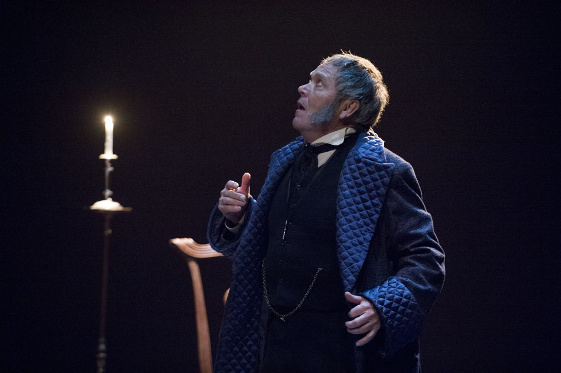 Featuring (L to R): Tom McBeath (Ebenezer Scrooge) in A Christmas Carol / Photos by David Cooper