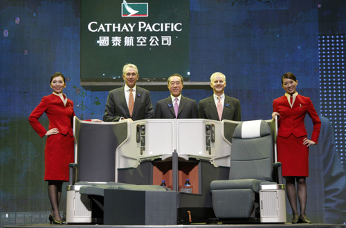Cathay Pacific unveils new Business Class seat, new frontline staff uniform and latest lounge concepts at gala event