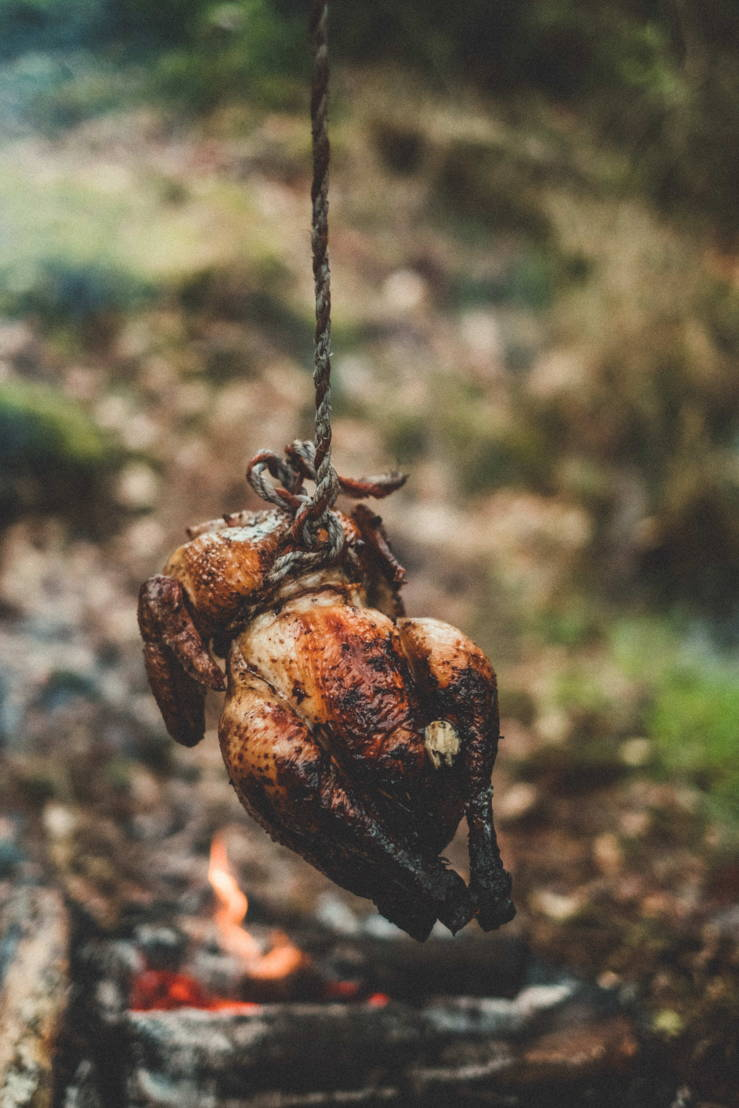 Chicken on a rope (c) Thomas Sweertvaegher