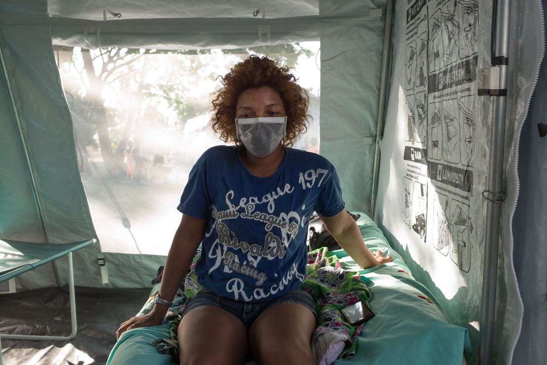 Melle MARIE Florencia, 22 years old.<br/><br/>She was diagnosed with plague and was admitted to the health center on 17 October. She will have to stay in the center without leaving until October 24 to follow the treatment. Photographer: RIJASOLO/Riva Press