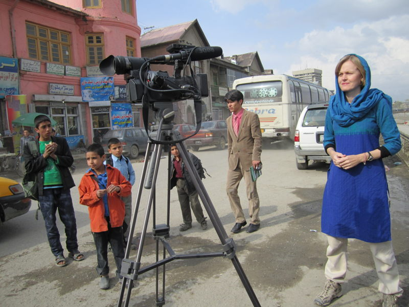 Sally Sara on location in Afghanistan