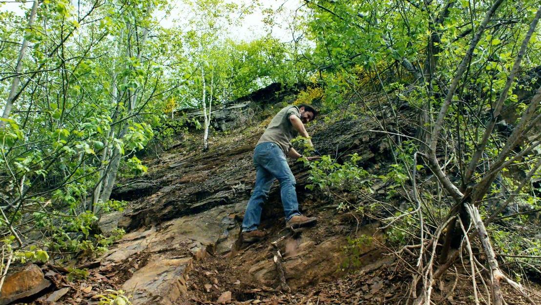 Leven in steen - Cyrille Prestianni in een steengroeve