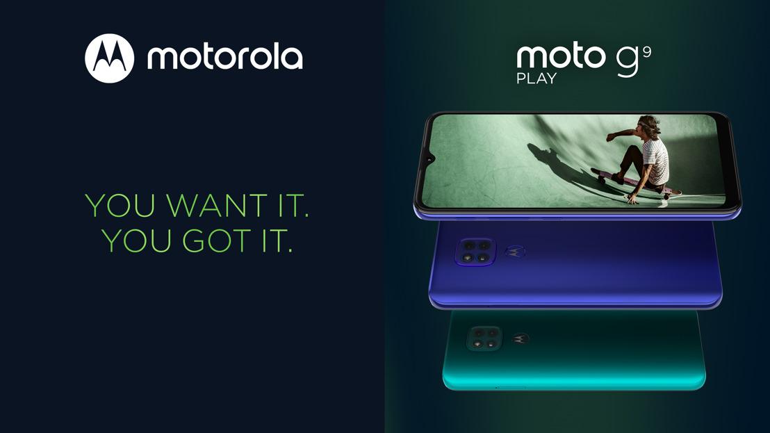 Wil jij ongelooflijke prestaties, een next level camerasysteem en een krachtige batterij? Maak kennis met de nieuwe moto g9 play