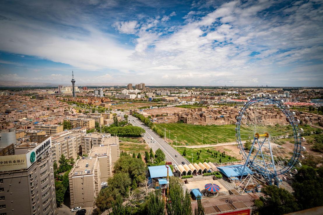 Kashgar cityscape. Pic credit Brant Cumming
