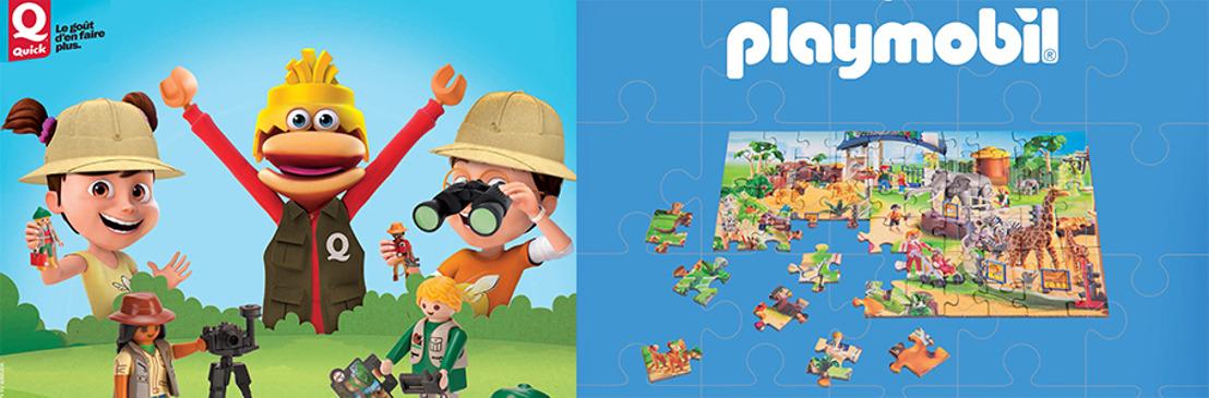Playmobil est de retour chez Quick!
