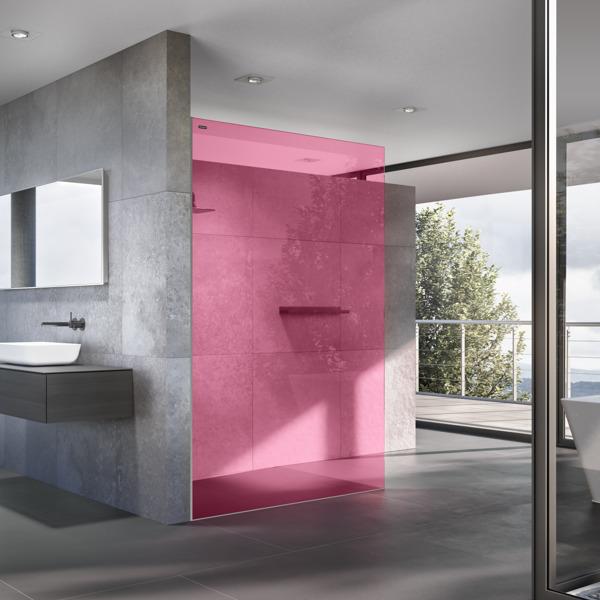 Preview: Een vleugje 'schwung' in je badkamer dankzij de Air Colours douchewanden van Duscholux!