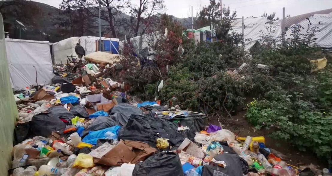 """""""En el campo de Vathy hay 4.500 personas hacinadas como animales viviendo entre suciedad, basura y ratas"""""""