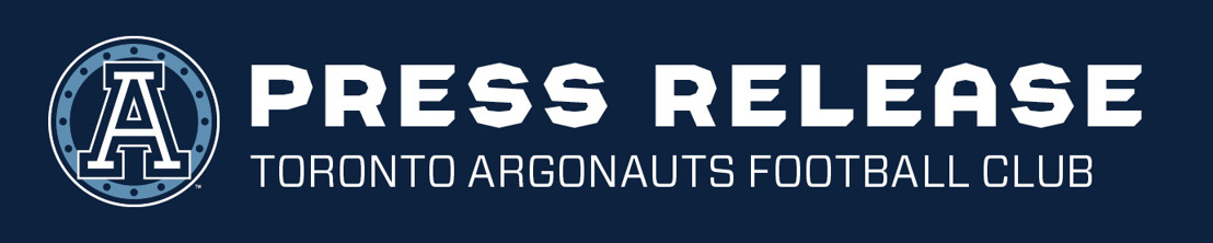 TORONTO ARGONAUTS PRACTICE & MEDIA AVAILABILITY SCHEDULE (AUG 23-26)