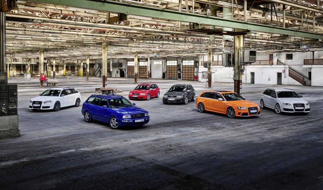 Performances supérieures. Caractère affirmé. Modèles exclusifs. Audi Sport célèbre les 25 ans des modèles Audi RS